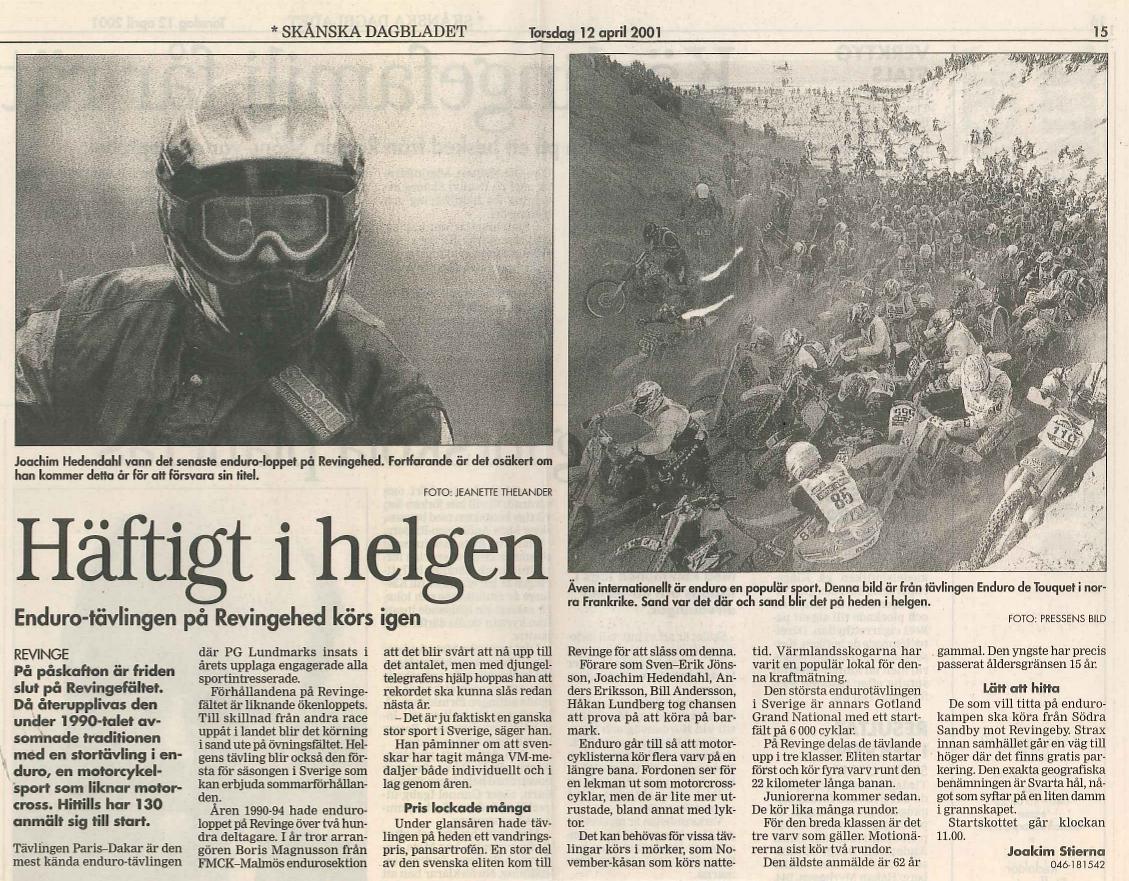 Pansartrofen april 2001