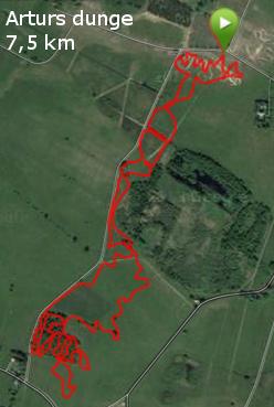 Arthurs dunge 7,5 km