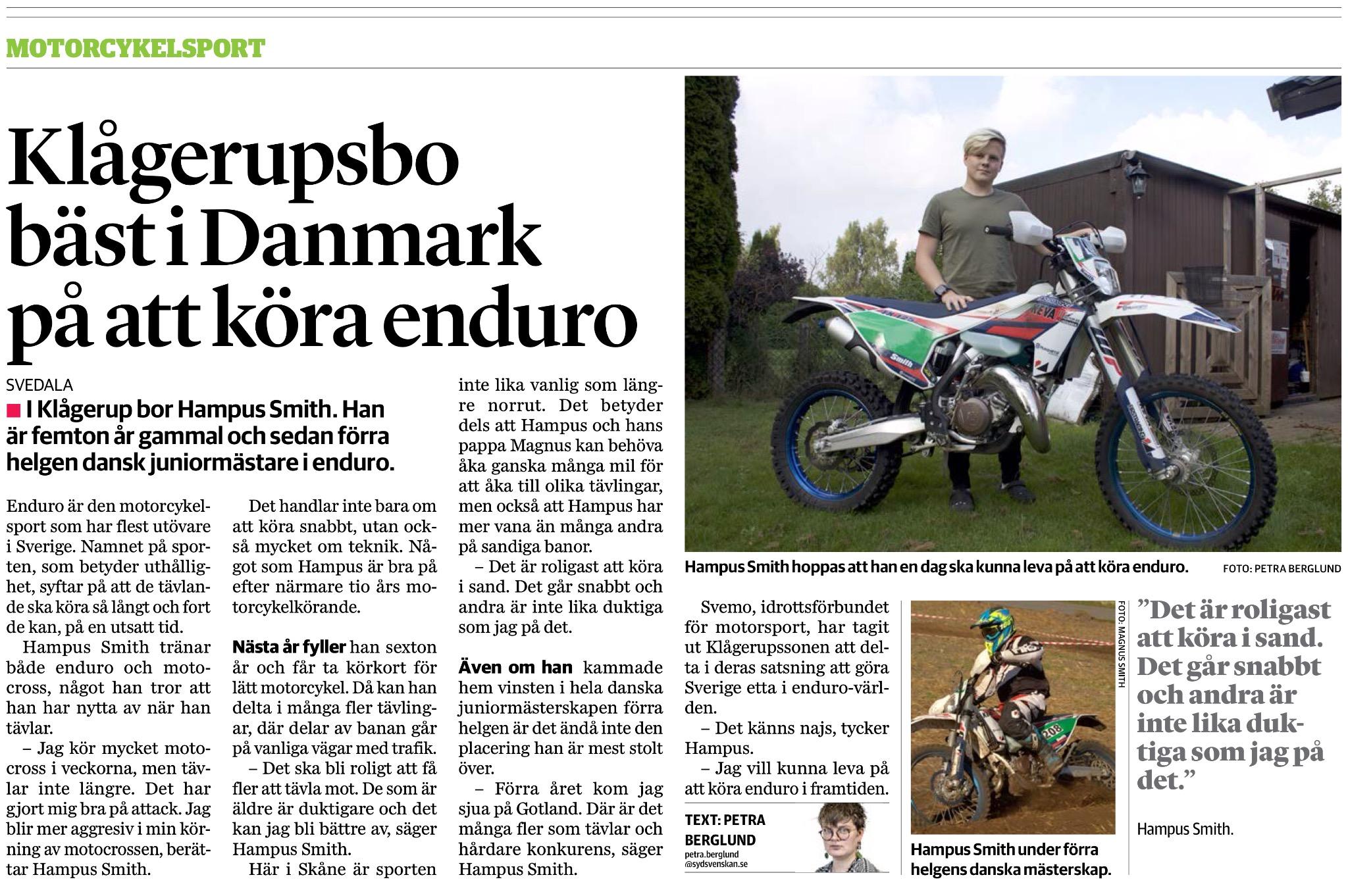 Källa: Sydsvenska Dagbladet söndag 25 september 2016